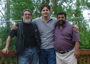 My father, my brother, Darren, and me