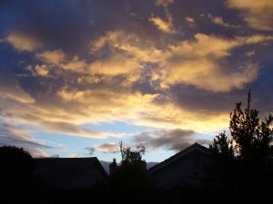 Laden Sky at Dusk