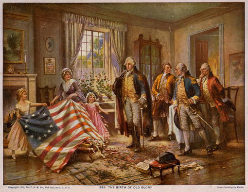 The birth of the United States of America flag